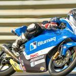 Buenos resultados del team H43 team nobby talasur-blumaq en la primera carrera del campeonato de europa y mundial junior de moto3 en Estoril Portugal